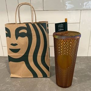 Starbucks Copper/Gold Venti Studded 50 Year Cup